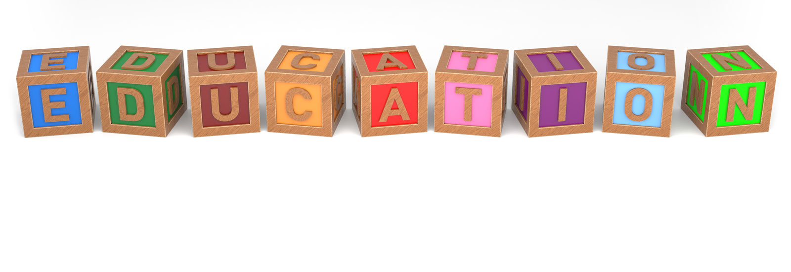 Wooden Blocks Spelling Education